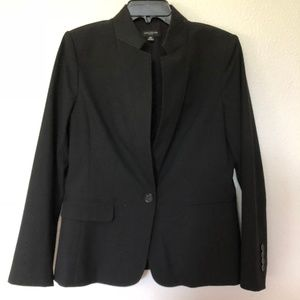 Ann Taylor black collarless blazer 10P